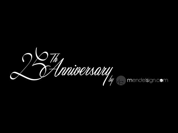 25th Anniversary Graphics