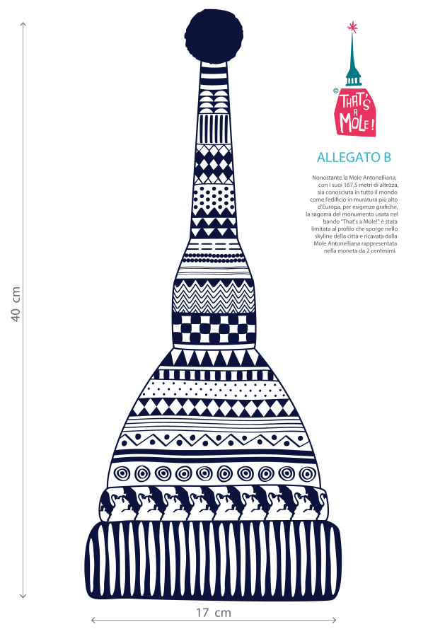 That's a Mole! is an international illustration contest focussed on the city of Turin's iconic monument: the Mole Antonelliana.