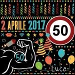 """Happy Birthday Luca(black)"